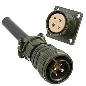 Разъем XM22-4pin cable plug + block socket