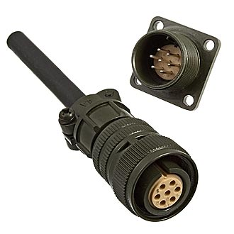 Разъем XM16-7pin cable socket + block plug